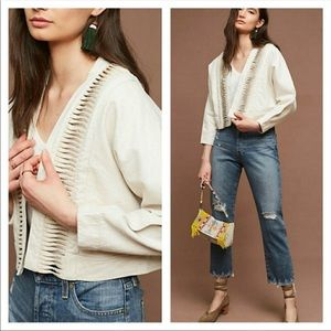 Anthropologie Hei Hei Ladder Cropped Jacket M/L